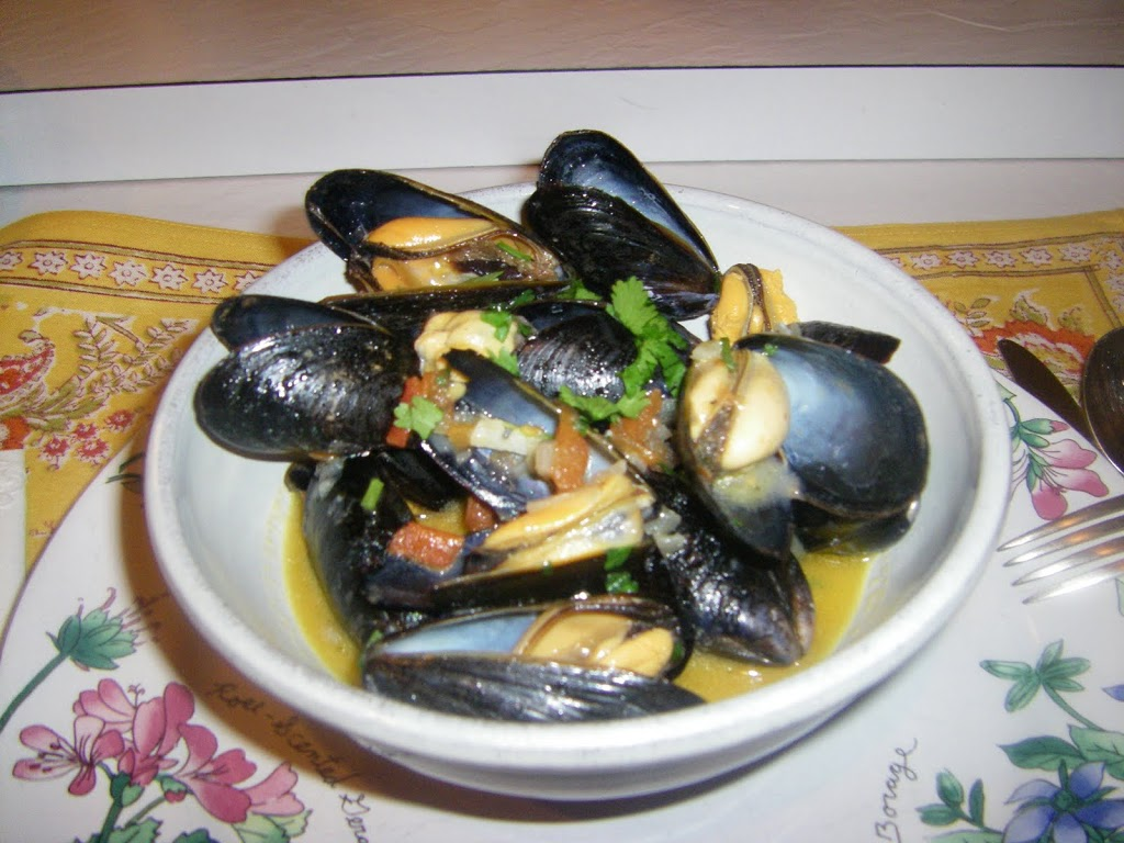 Sauteed Chilean mussels
