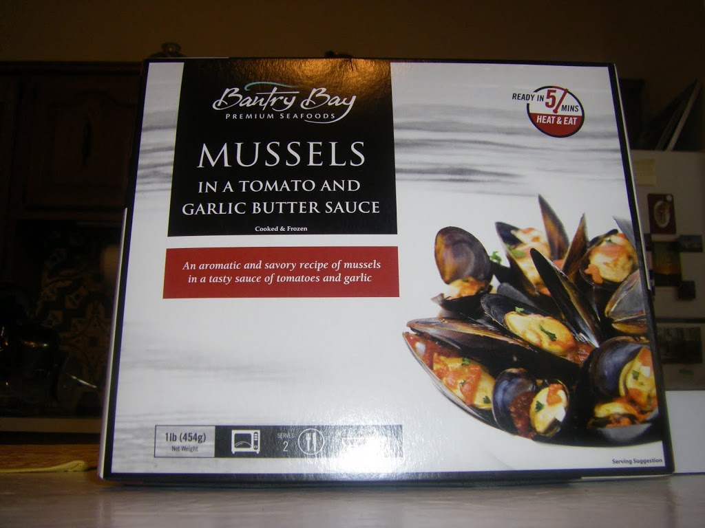 Box of frozen Chilean mussels, sold in U.S.