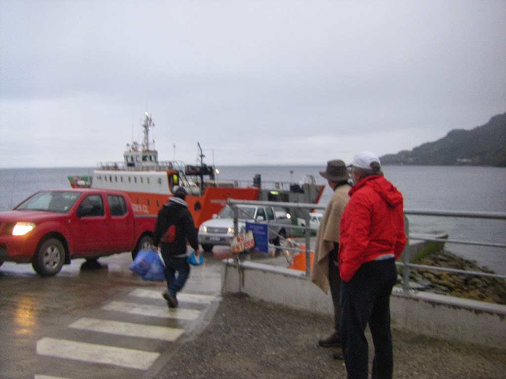 Loading the ferry at Puerto La Arena