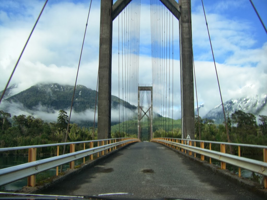 Suspension bridge over Yelcho River
