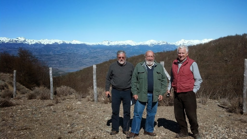Gonzalo, Dave and Joaquin with backdrop of Andes Mountains