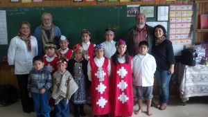 Mapuche kids at school