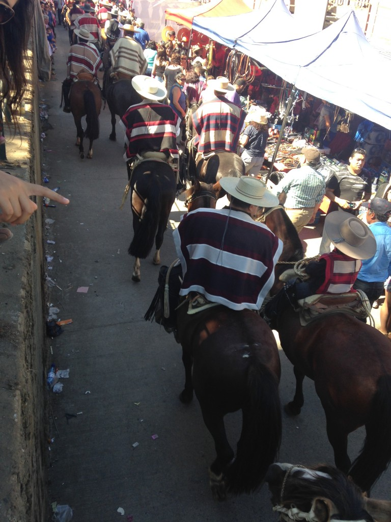 Club de Huasos in the procession of La Candelaria, Chanco, Chile 2015 Photo DJoslyn