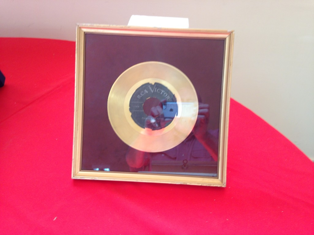 "Guadalupe's RCA gold record for ""Ofrenda"", on display in museum in Chanco, Chile"