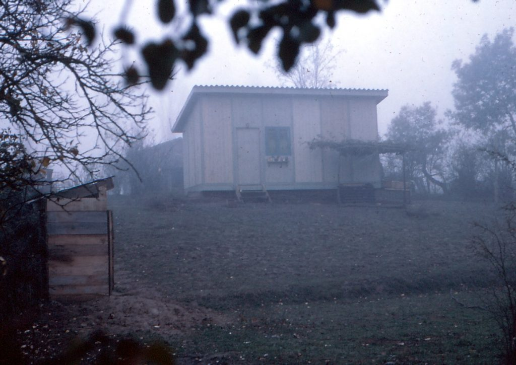 The two-room house Doug and Kiva built in Portezuelo to live in for two years.