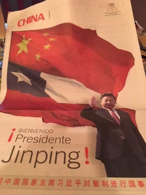 El Mercurio insert celebrating Chile - China cooperation