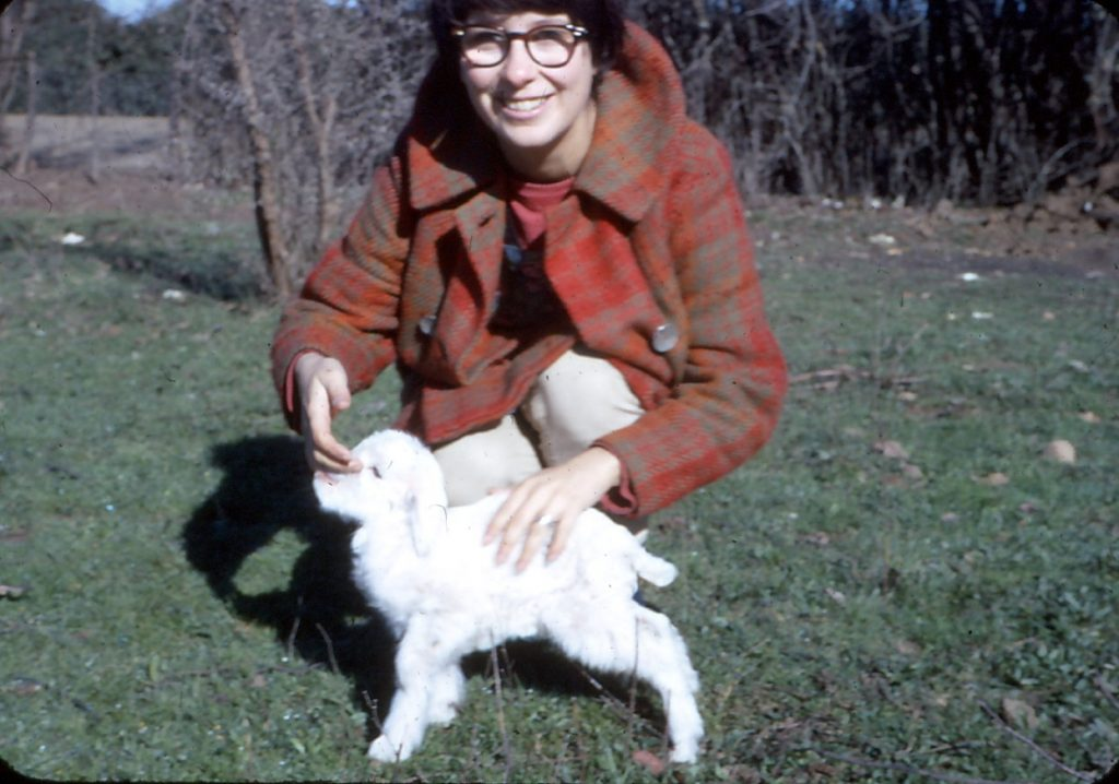 Kiva with her pet goat.