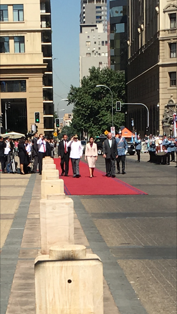 Peruvian President and wife at Moneda Palace, Santiago de Chile (2016)